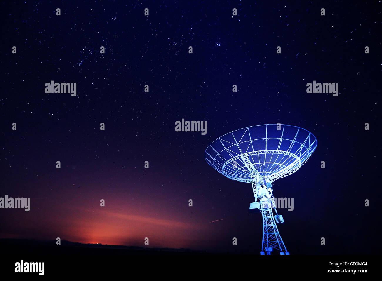 satellite receiver - Stock Image