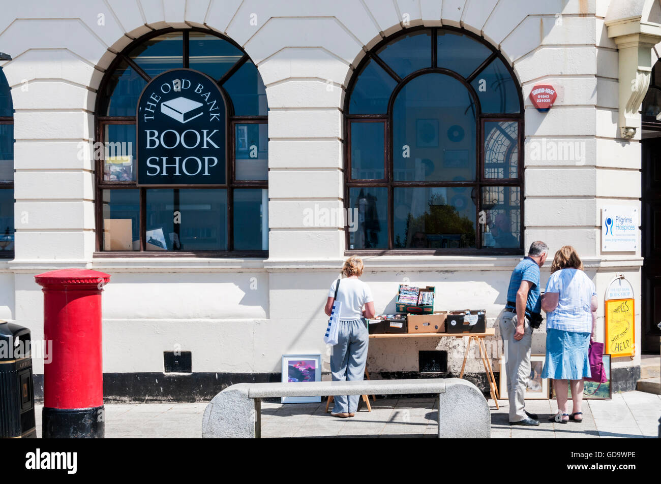 The Old Bank bookshop in Margate is in the former premises of the now closed Midland Bank. - Stock Image