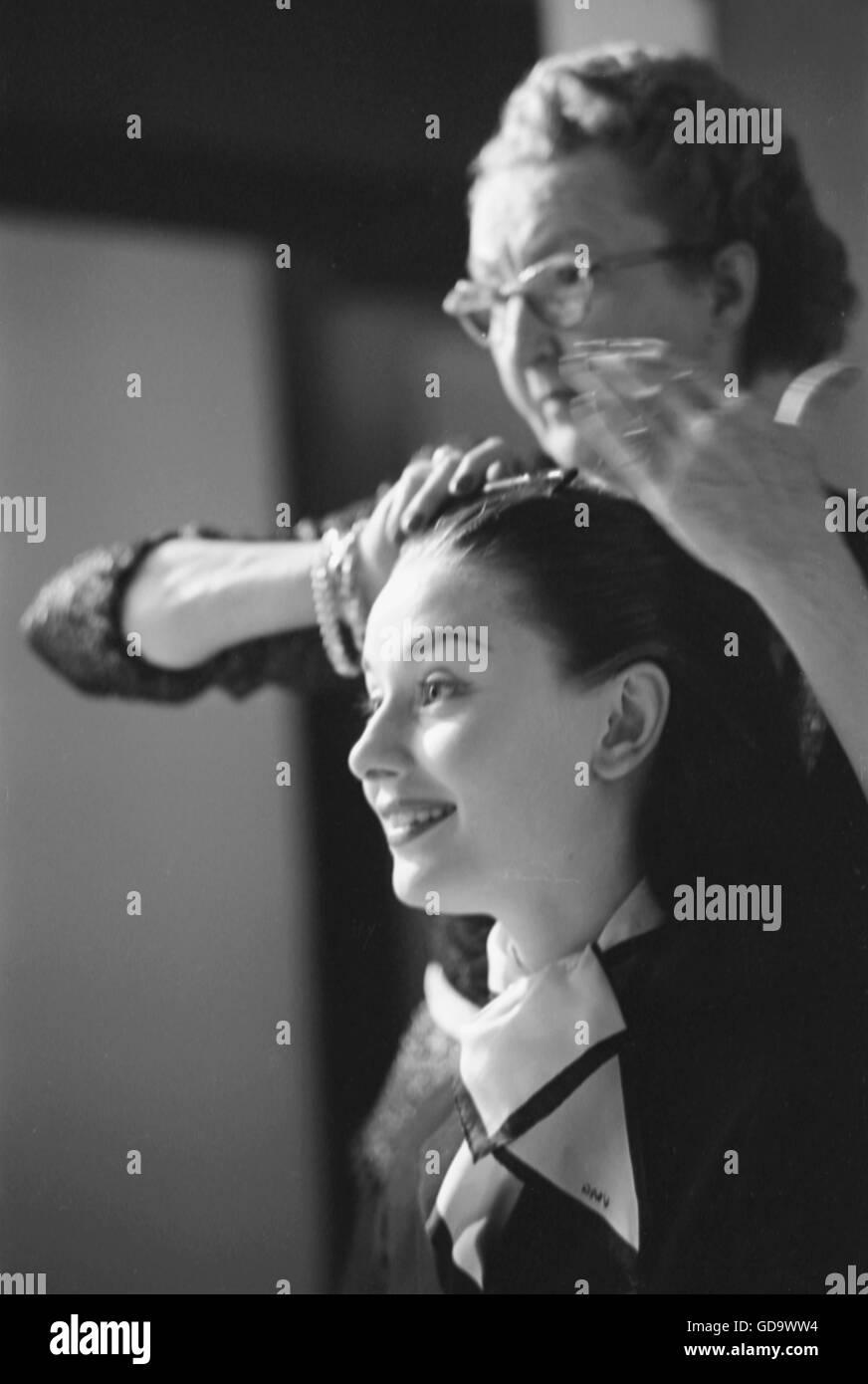 Audrey Hepburn in Roman Holiday - Stock Image