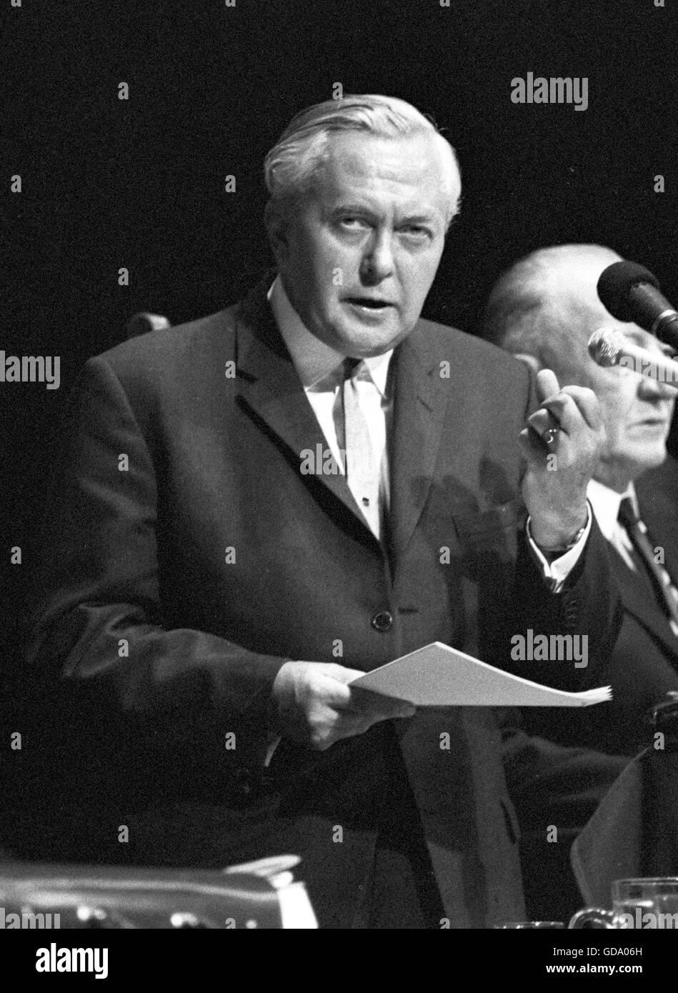 Prime Minister Harold Wilson - Stock Image