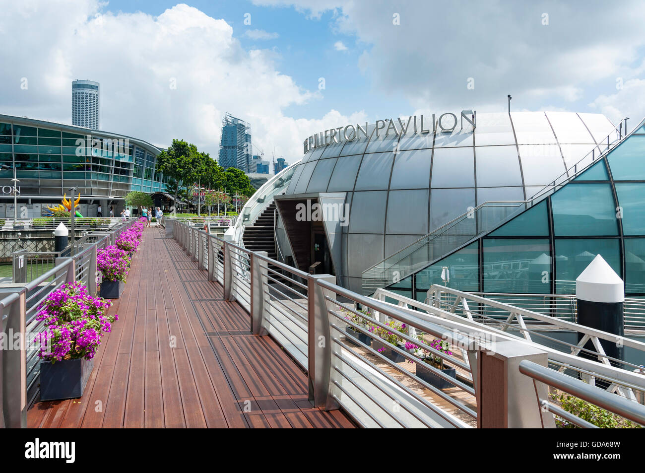 The Fullerton Pavilion, Clifford Square, Marina Bay, Central Area, Singapore Island (Pulau Ujong), Singapore - Stock Image