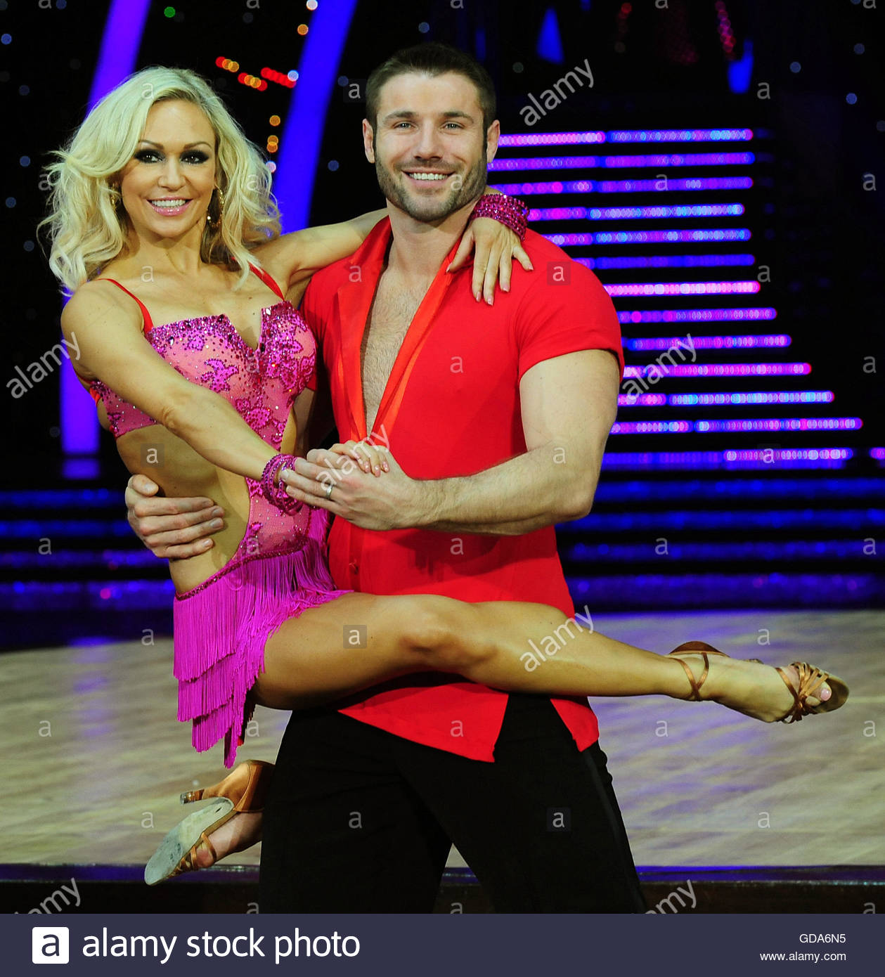 File photo dated 16/01/14 of Ben Cohen and Kristina Rihanoff who have become parents together for the first time. - Stock Image
