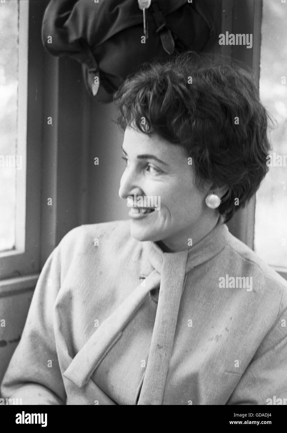 Miriam Wagner, Jack Paar's wife - Stock Image