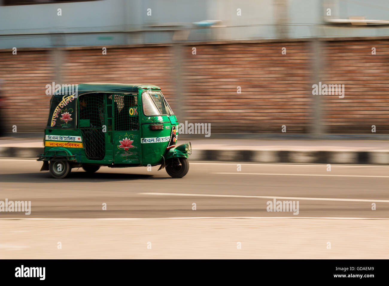 CNG taxi in Dhaka - Stock Image