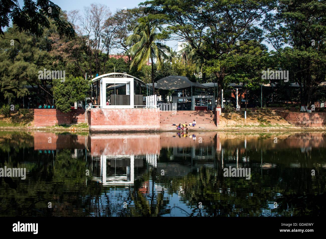 Dhanmondi Lake, Dhaka - Stock Image
