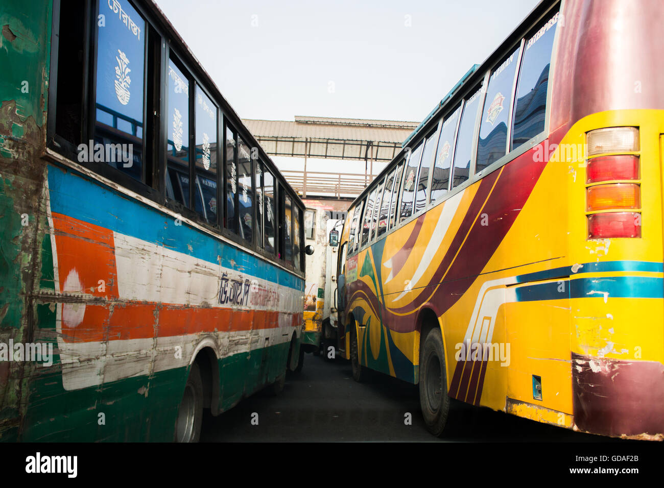 Dhaka traffic - Stock Image
