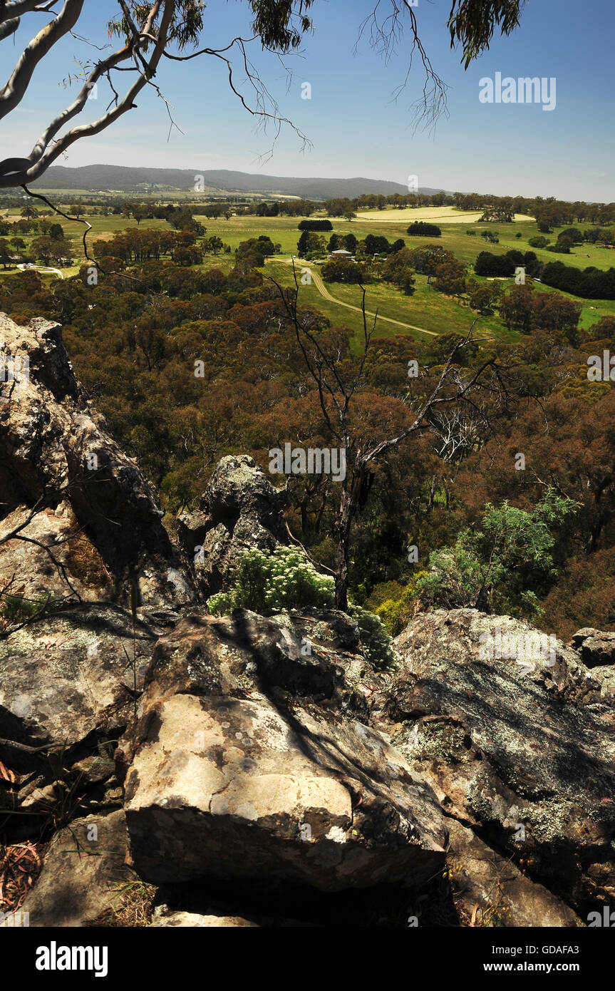 Australia, Victoria. A place called 'Hanging Rock' - Stock Image