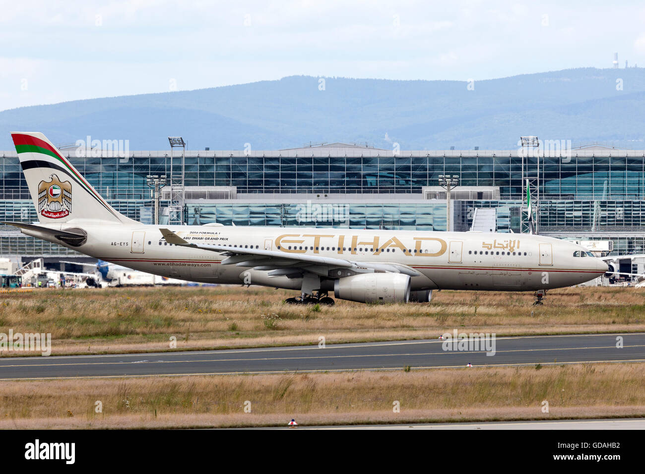 Etihad Airway Airbus A330 in Frankfurt Main - Stock Image