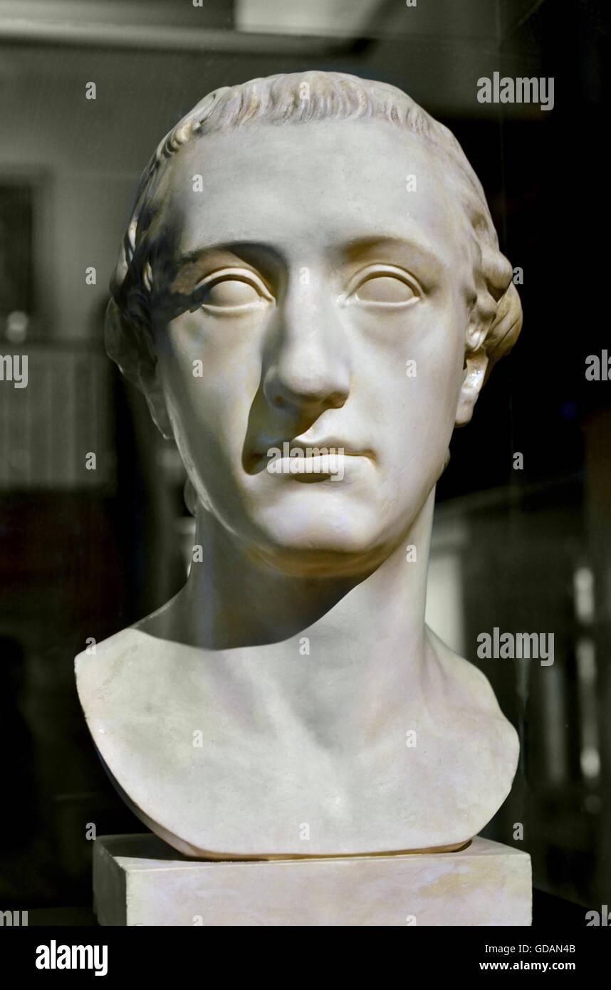 Bust of Johann Wolfgang von Goethe Germany Berlin Sculptor: Klauer, Martin Gottlieb Workshop : Brothers Micheli Stock Photo