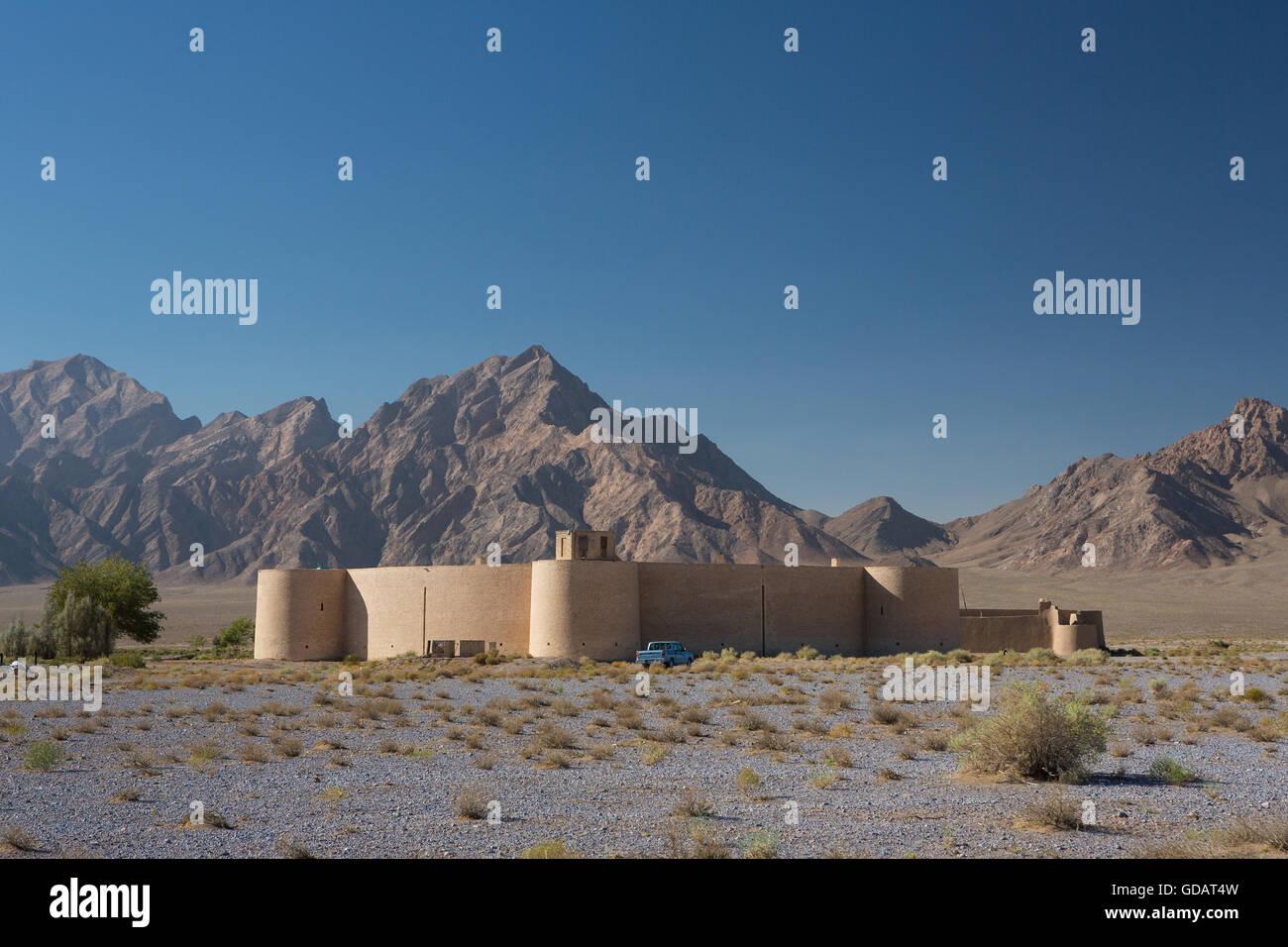Iran,Near Yazd City,Zayn al Din Caravanserai. (round caravanserai) - Stock Image