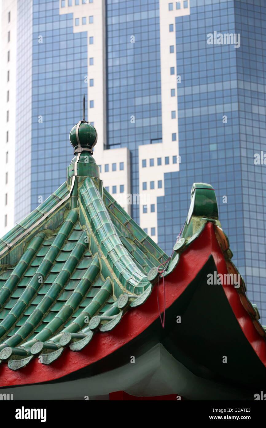Alltag auf den strassen im Chinatown und Altstadt von Singapur im Inselstaat Singapur in Asien. - Stock Image