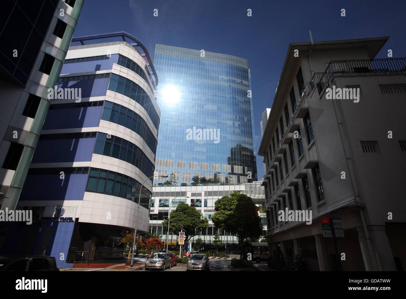 Asien, Suedost, Singapur, Insel, Staat, Stadt, City, Skyline, Zentrum, Bankenviertel, Hochhaus, Wolkenkratzer, Bank, Stock Photo