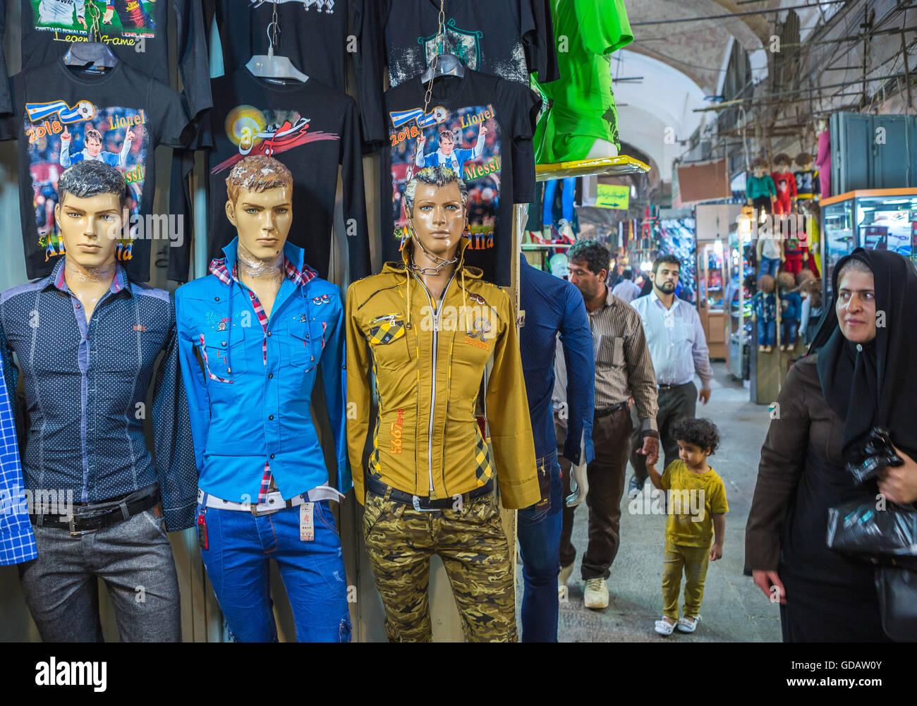 Iran,Esfahan City,Bazaar Bozorg - Stock Image