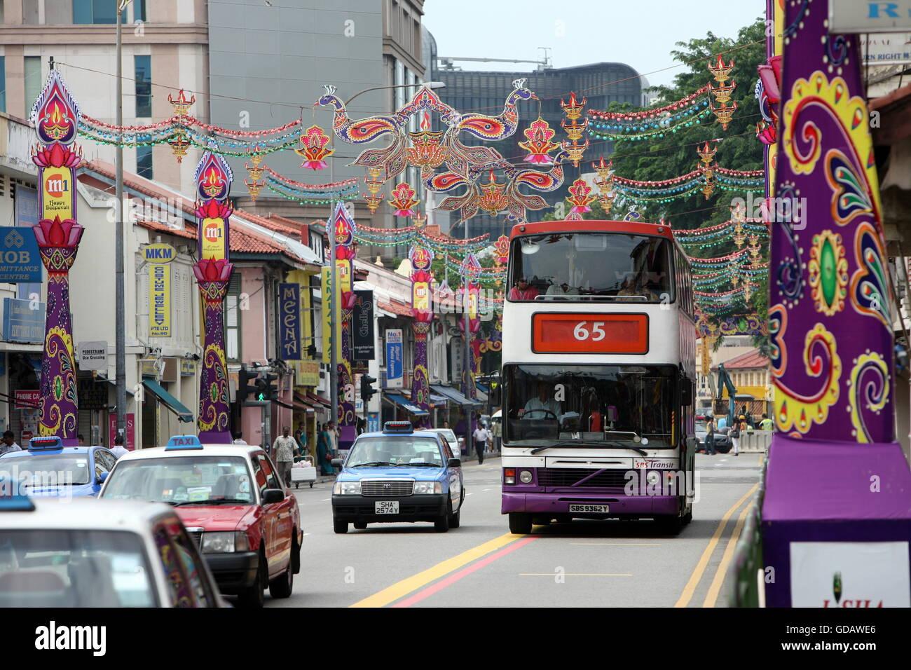 Asien, Suedost, Singapur, Insel, Staat, Stadt, City, Little India, Marktstrasse, Markt,  Gasse, Alltag, Wirtschaft, - Stock Image