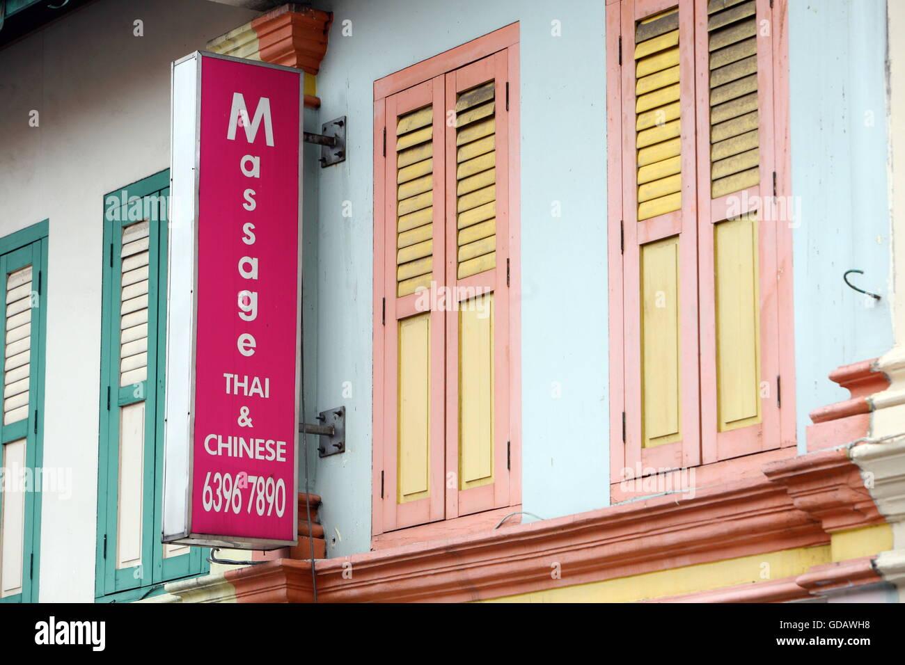 Asien, Suedostasien, Singapur,  Massage, Gesundheit, Tahi, Chinesische, Ein Massage Haus im China Town in der Grossstadt - Stock Image