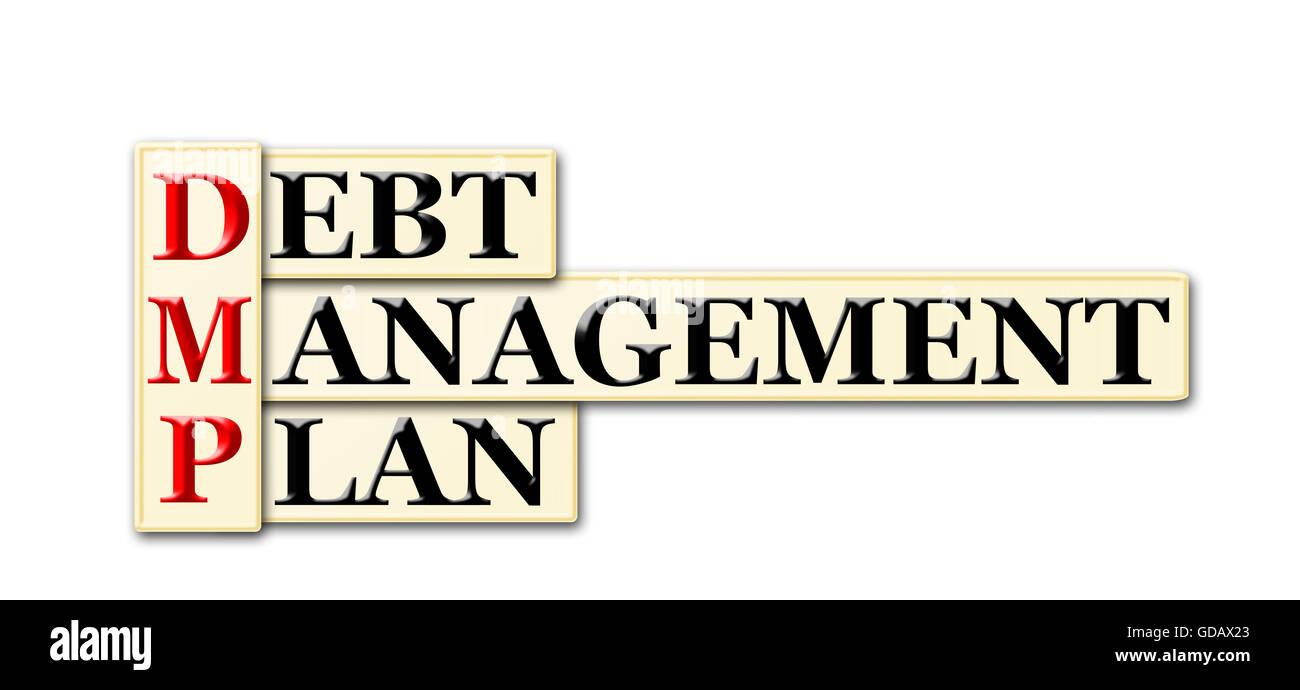 83a053d3ef7 DMP - Debt Management Plan acronym on white background Stock Photo ...