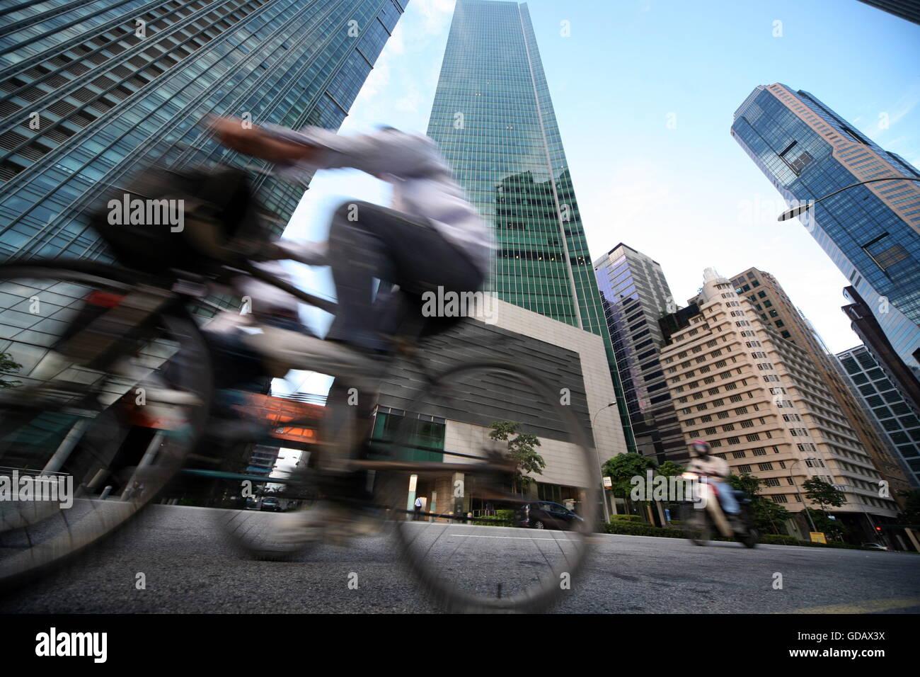Asien, Suedost, Singapur, Insel, Staat, Stadt, City, Skyline, Zentrum, Bankenviertel, Hochhaus, Wolkenkratzer, Bank, - Stock Image