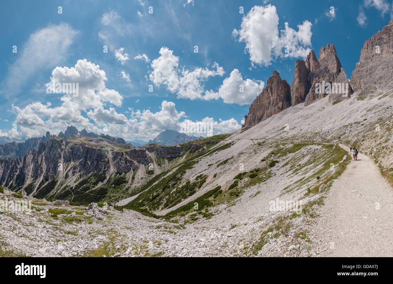Misurina,Italia,Hiking to the Drei Zinnen,Tre Cimi di Laveredo Stock ...