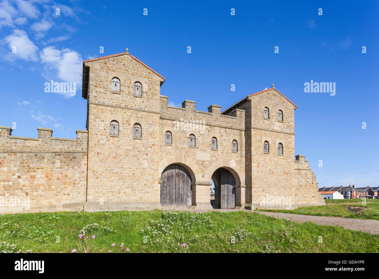 England,Tyne and Wear,South Shields,Arbeia Roman Fort and Museum - Stock Image