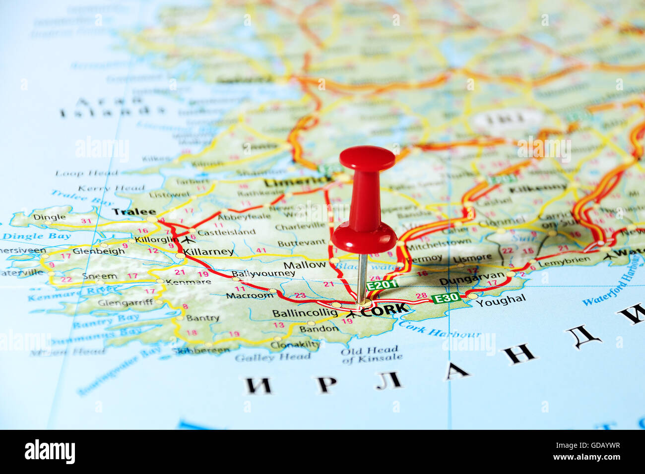 Push pin world travel map map of the usa with pins all over diy cork ireland united kingdom map and pin travel concept gumiabroncs Gallery
