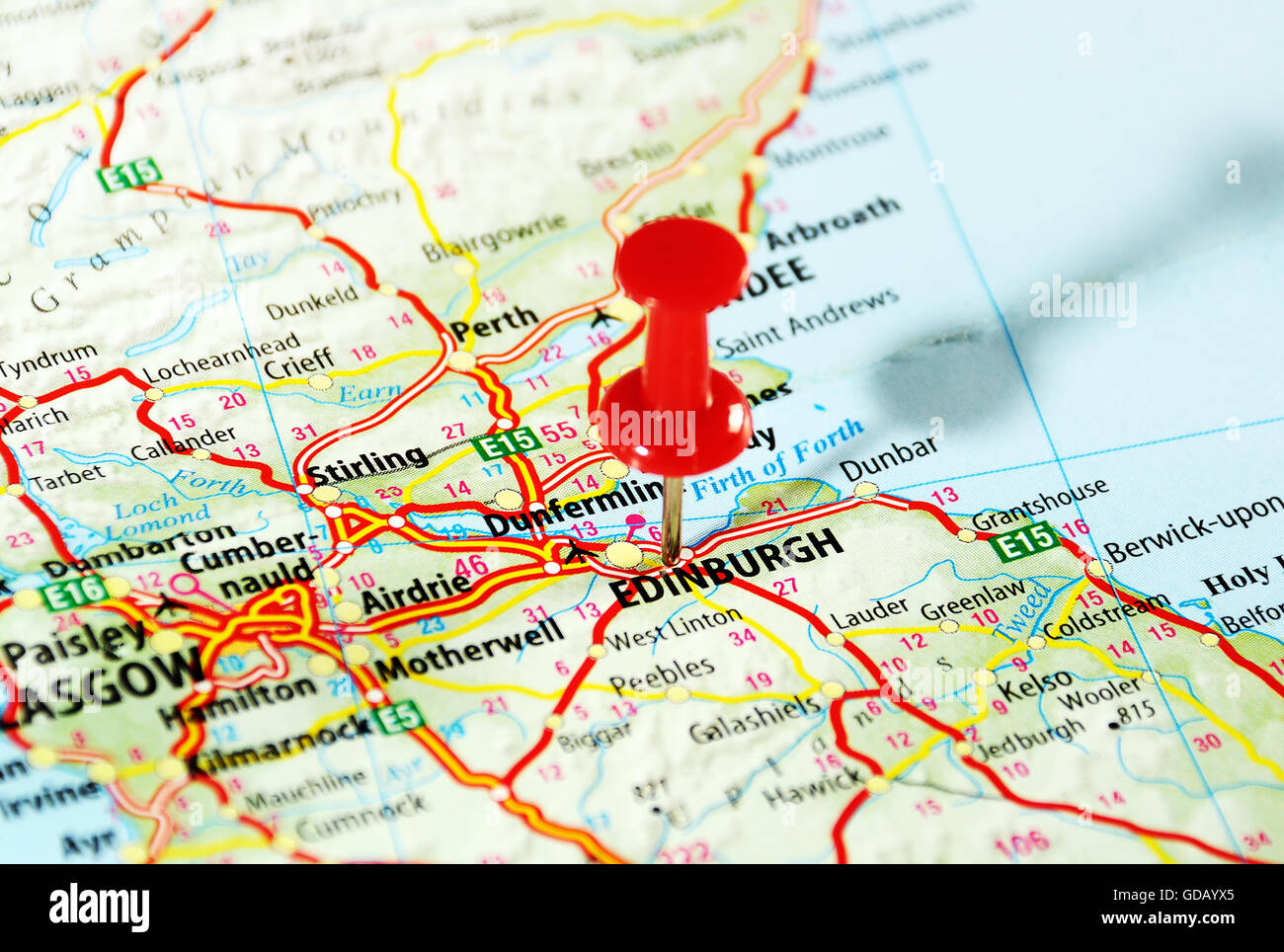 Holy Loch Scotland Map.Edinburgh Scotland United Kingdom Map And Pin Travel Concept