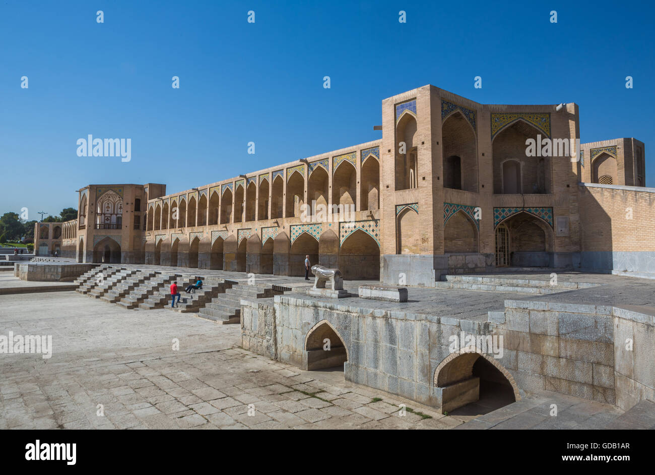Iran,Esfahan City,Si-o-Seh Bridge,UNESCO,world heritage, - Stock Image