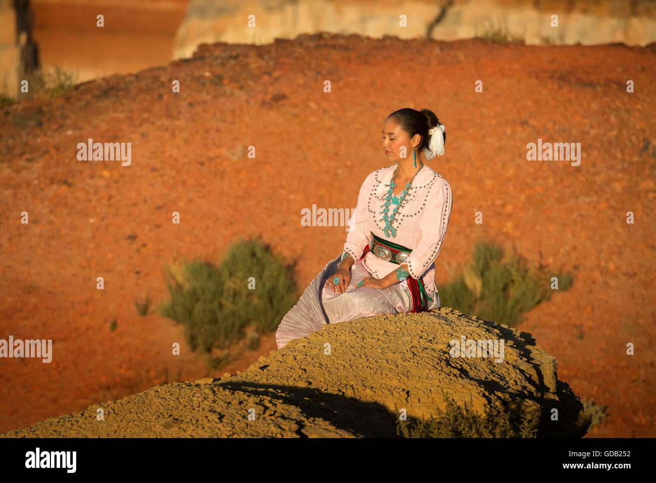 Navajo Beauty - Stock Image