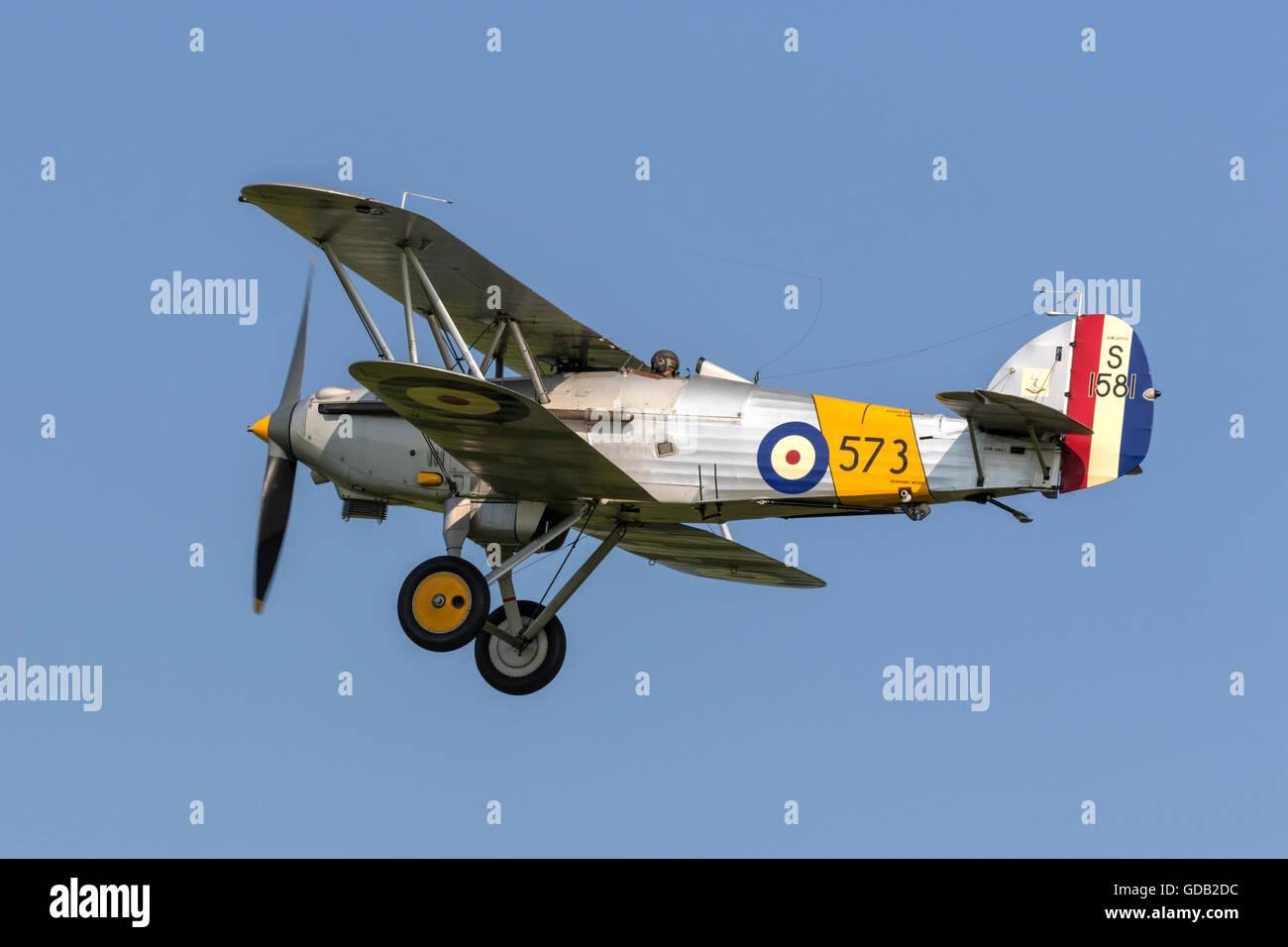 Hawker Nimrod 1 - RAF bi-plane fighter - Stock Image