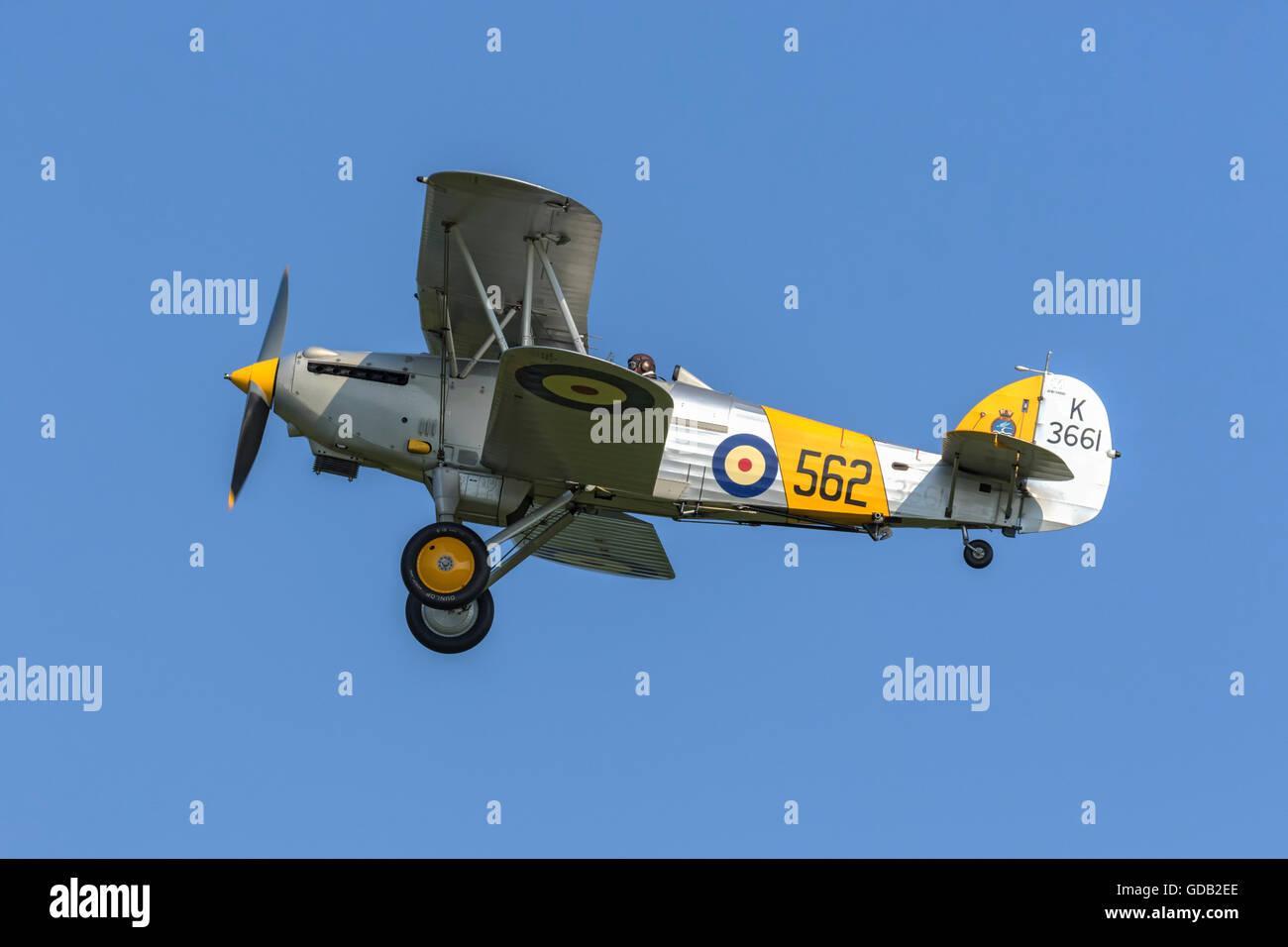 Hawker Nimrod 2 - RAF bi-plane fighter - Stock Image