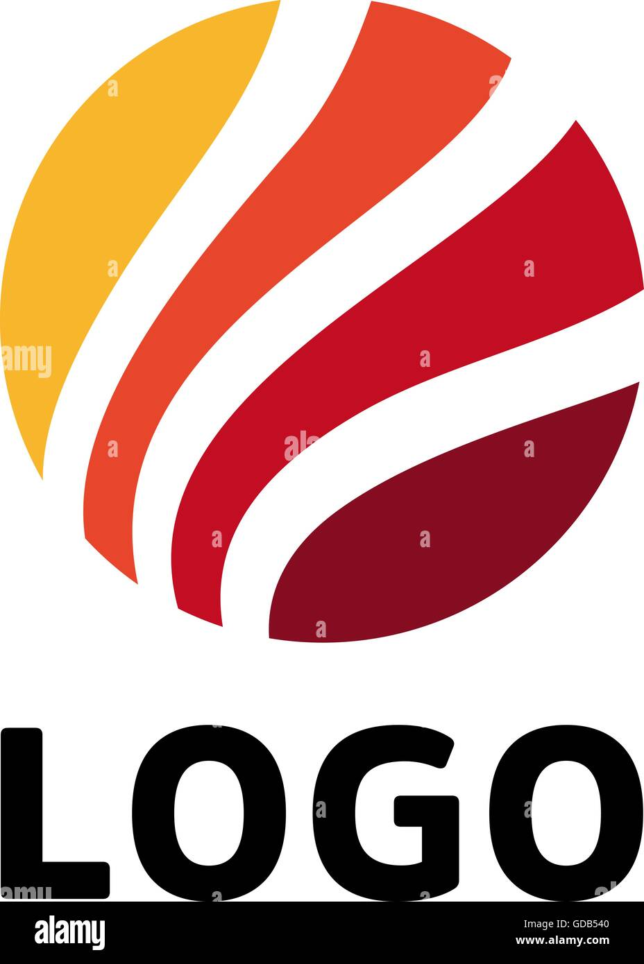 circular multicolored vector logo template unusual circle red