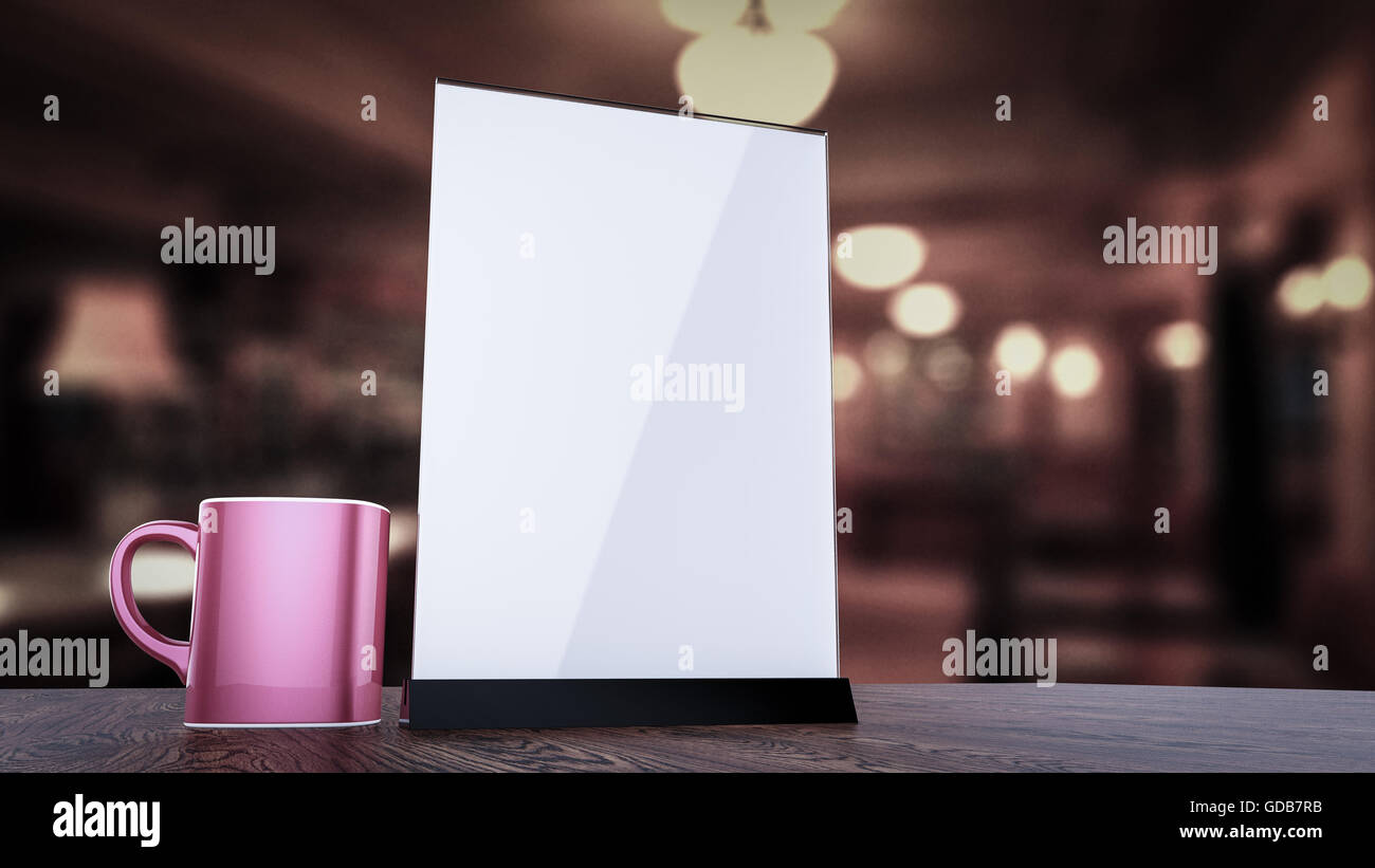 stand for booklets white sheets of paper acrylic table tent card