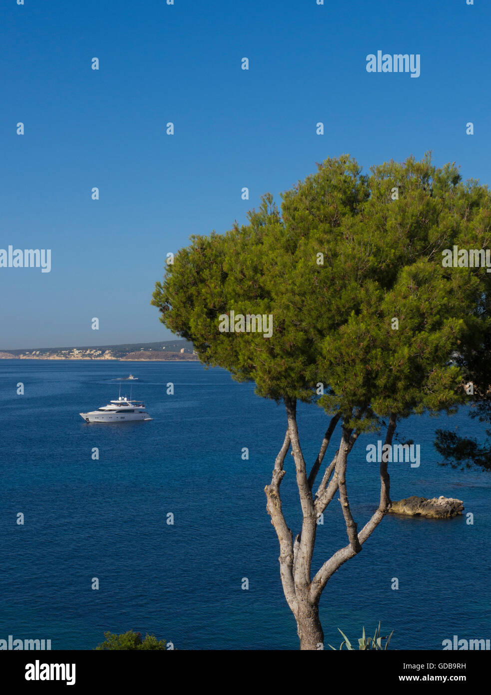 Cala Portals Nous, Mallorca ,Balearic islands,Spain. - Stock Image