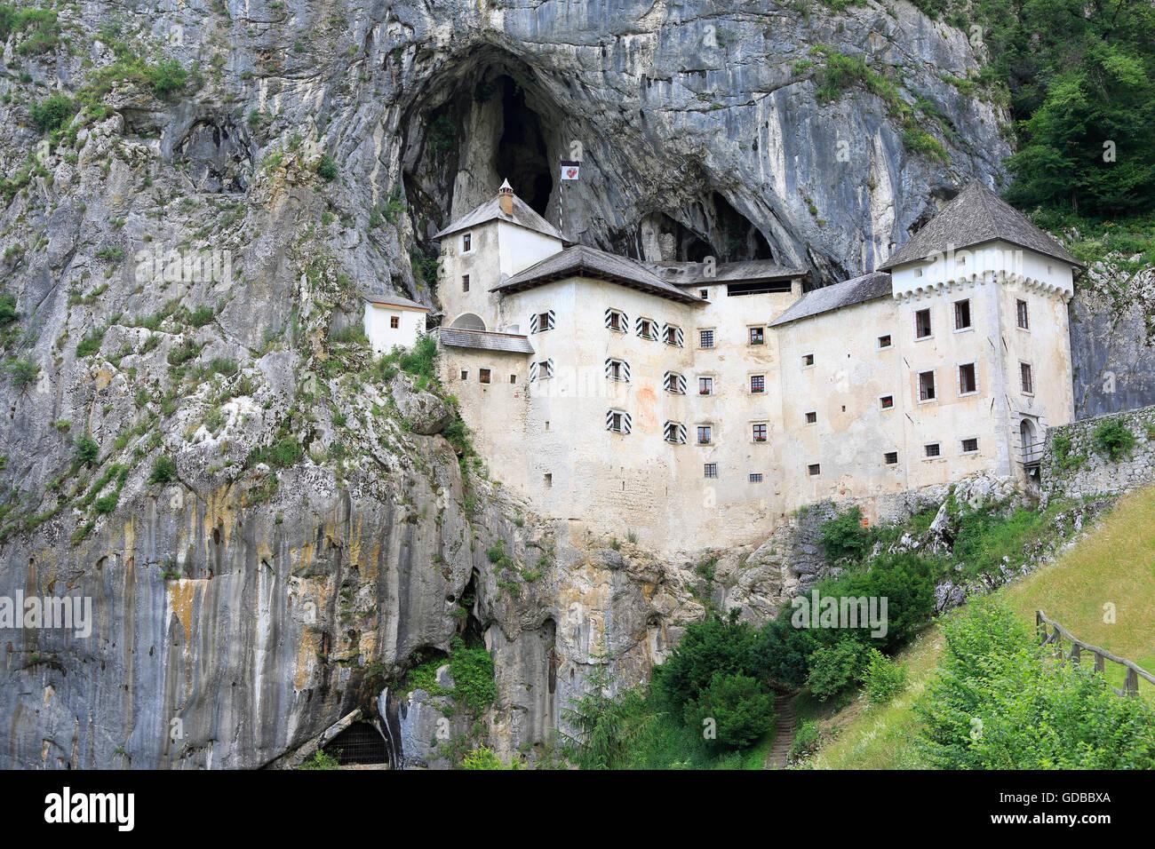 View of the Predjama Castle, Slovenia - Stock Image