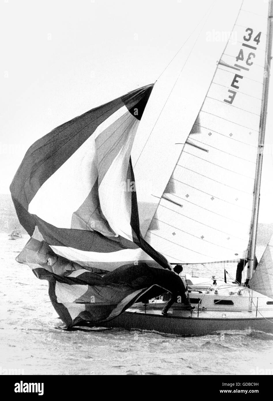 AJAX NEWS PHOTOS. 1979. LYMINGTON,ENGLAND. - ROYAL LYMINGTON CUP MATCH RACE - THE BOAT (GB), SKIPPERED BY PHIL CREBBIN, - Stock Image