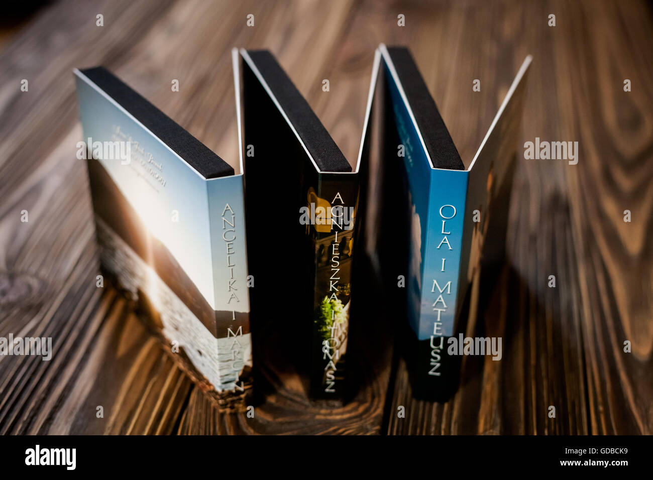 Closeup of opened wedding pendrive or dvd rom package. - Stock Image