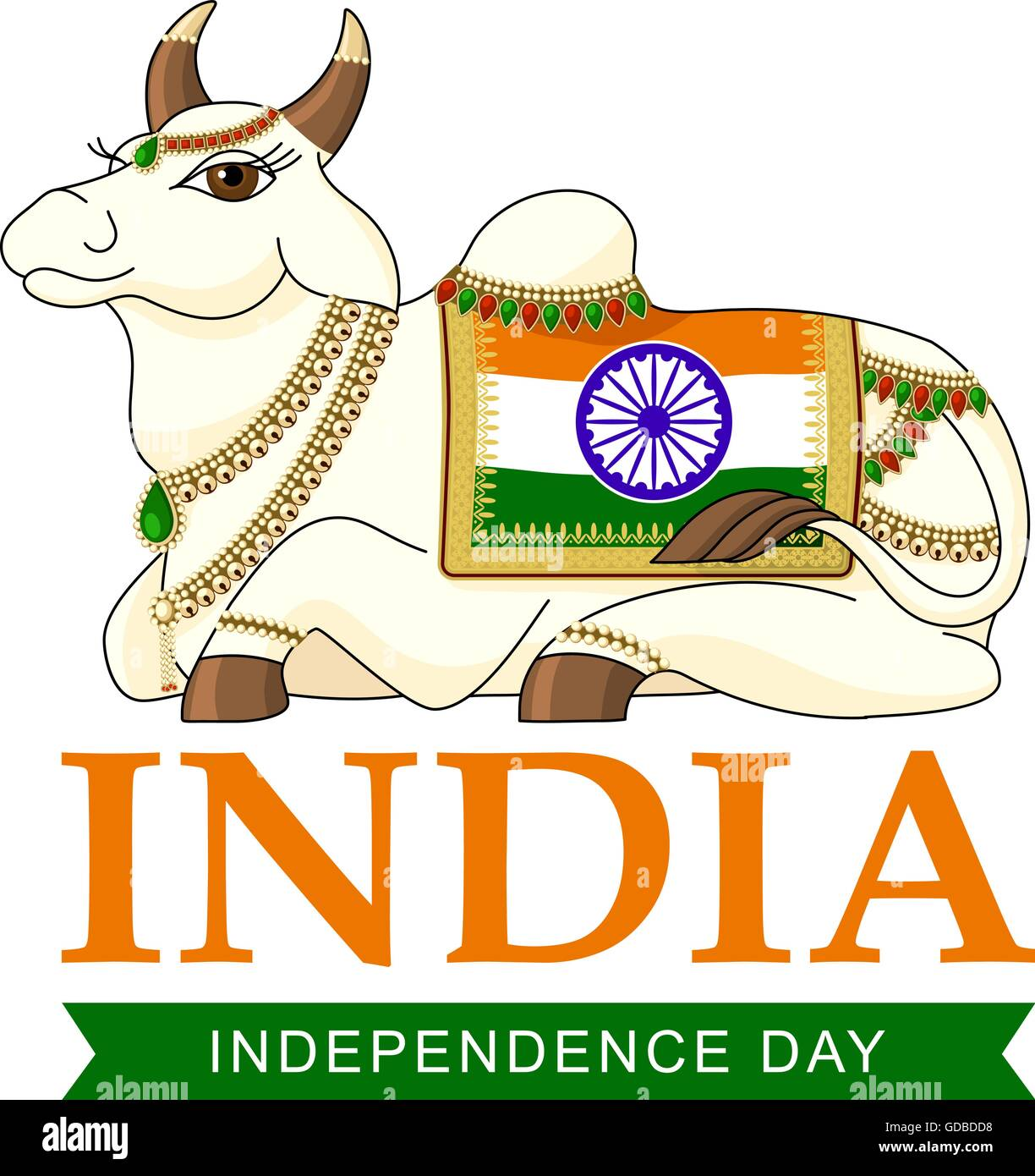 Indian Independence Day - Stock Image