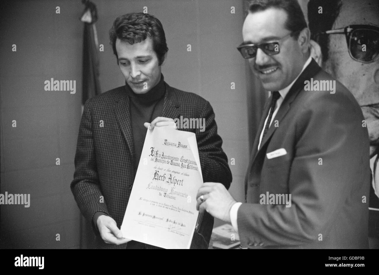 Herb Alpert and Francisco Lopez Gutierrez - Stock Image