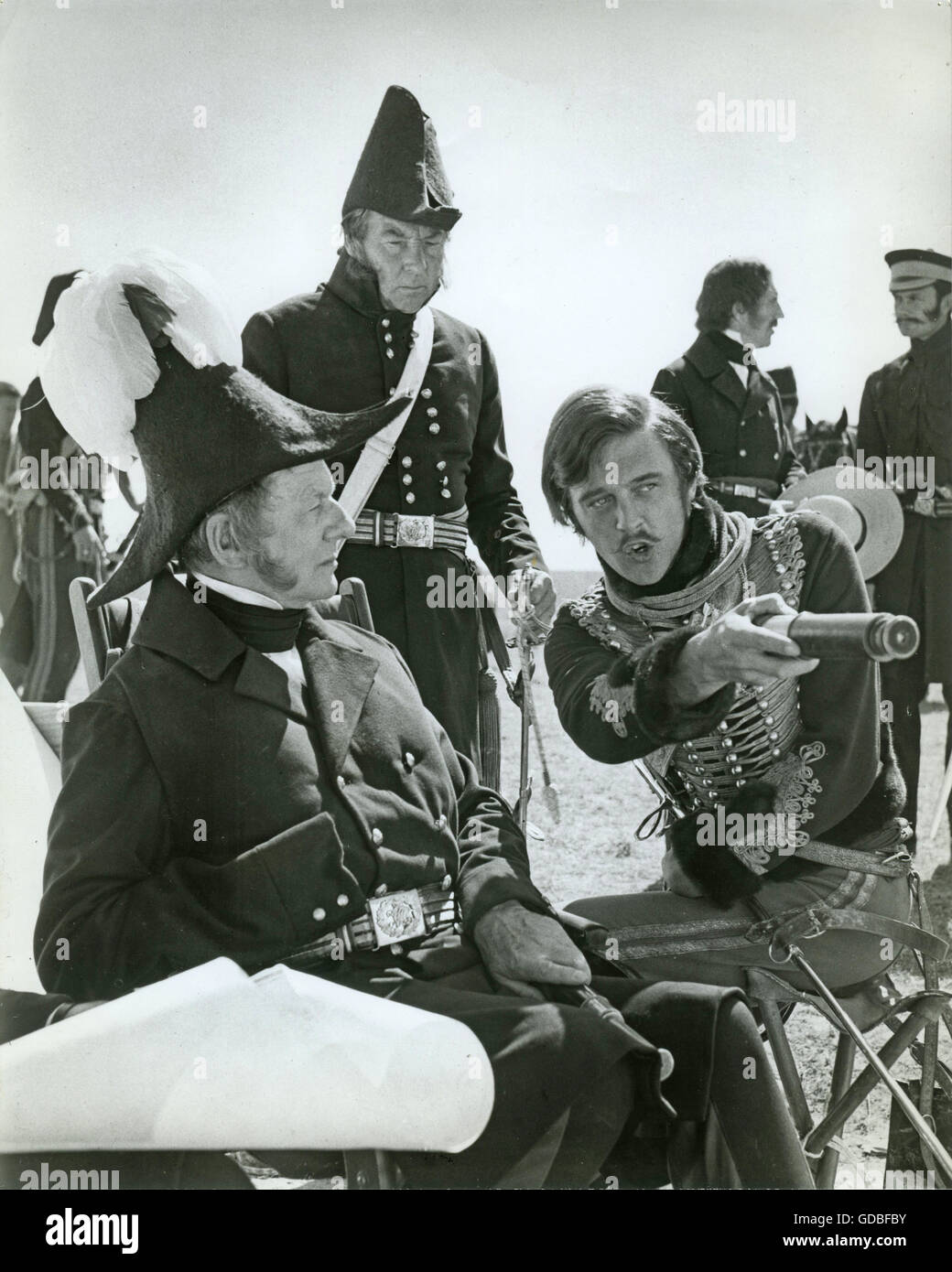 FILM The Charge of the Light Brigade (1968, Tony Richardson) John Gielgud (Lord Raglan), Unknown, David Hemmings - Stock Image