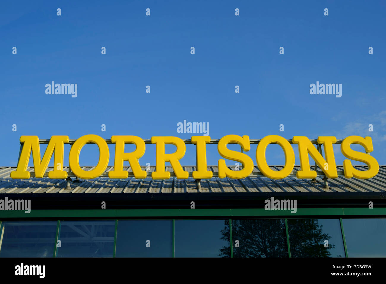 Morrisons Supermarket Sign Stock Photo