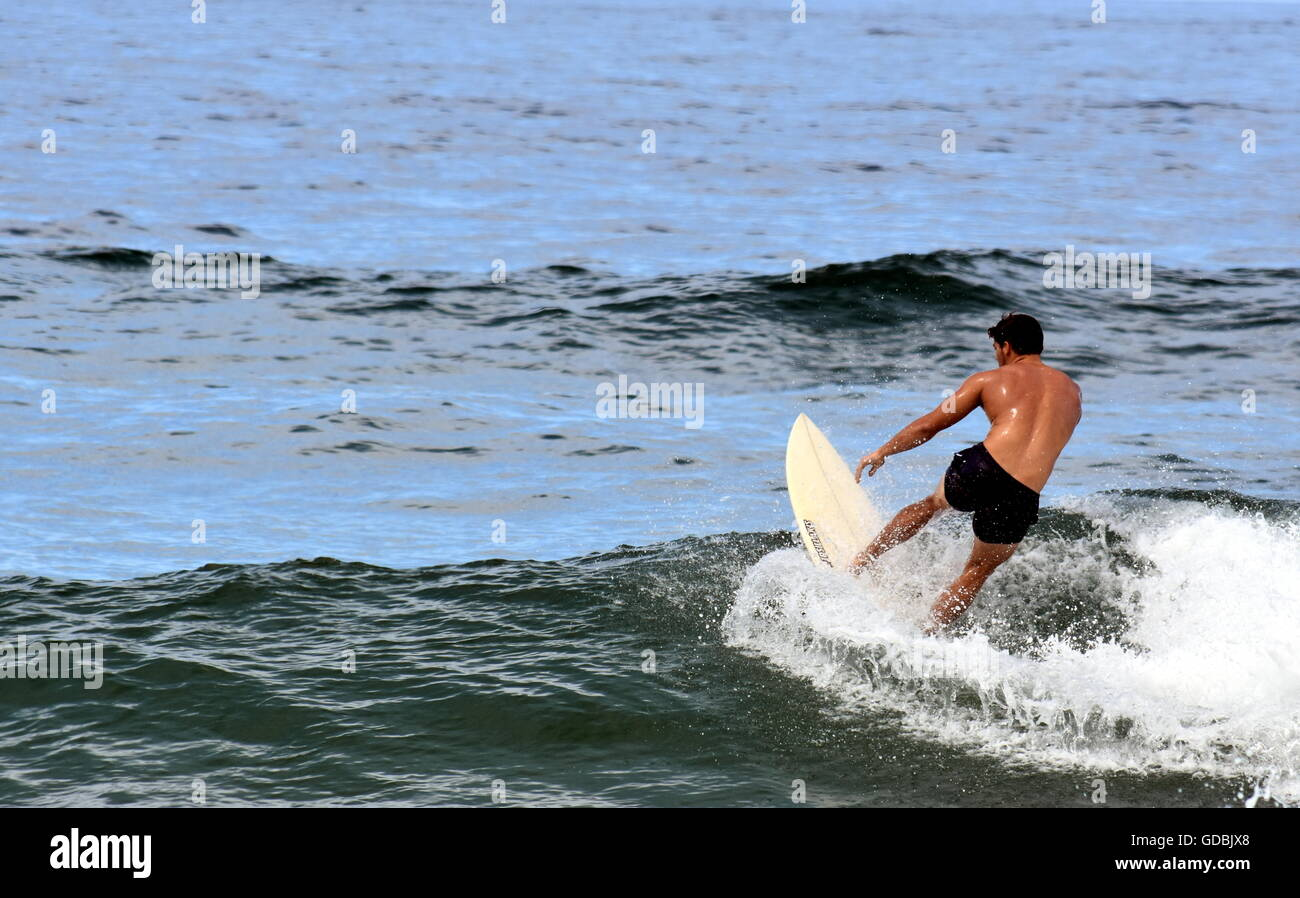 Adult amateur photo surfer