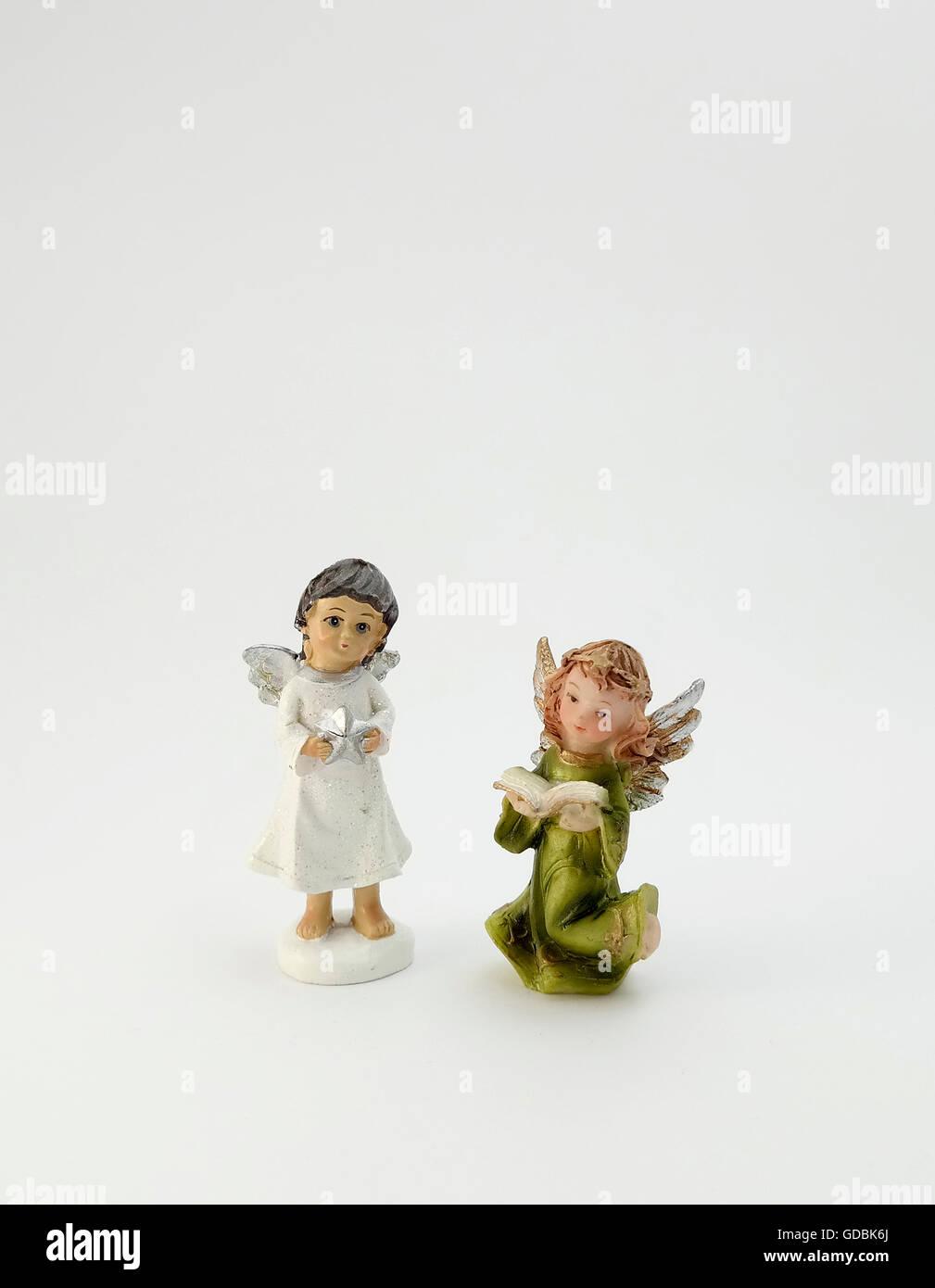 Angel Shaped Christmas Tree.Two Angel Shaped Christmas Tree Ornament Stock Photo