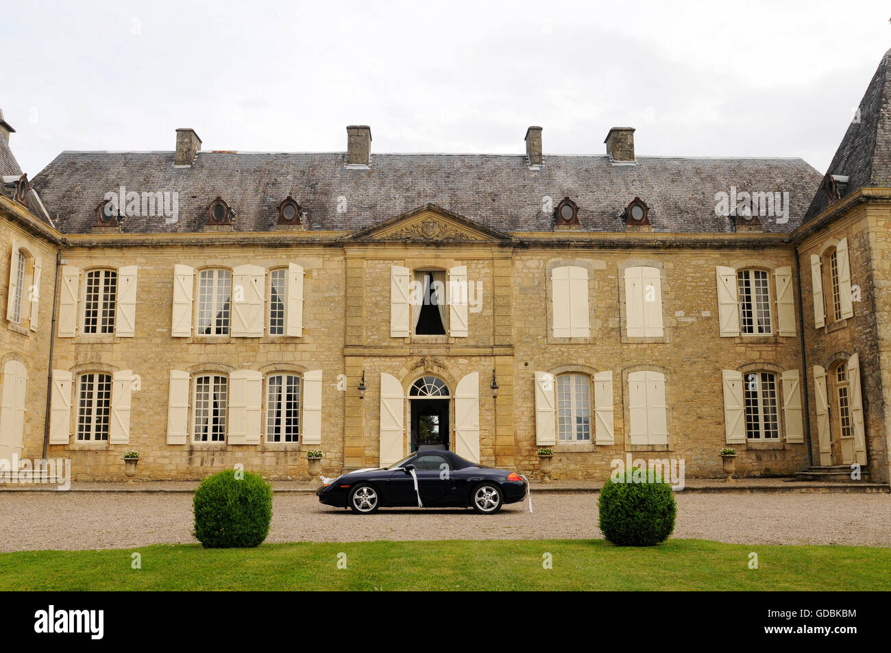 Chateau in the Dordogne - Stock Image