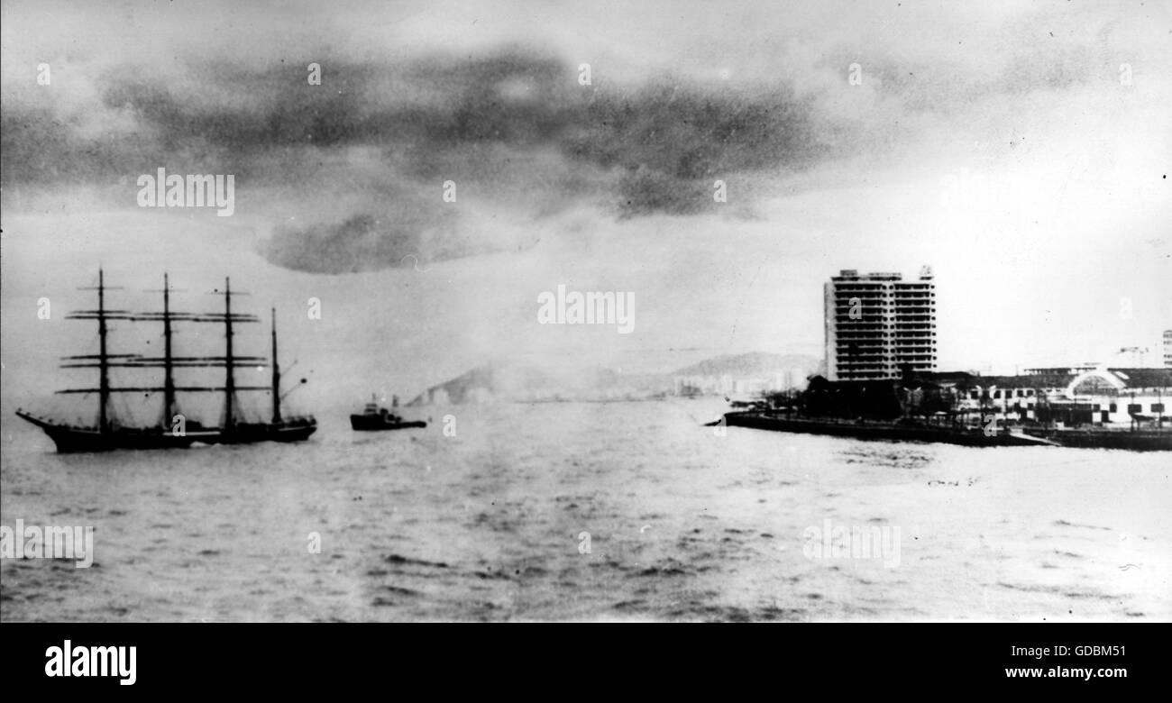 transport / transportation, navigation, sailing ship, supposed last picture of the 'Pamir', fake, circa - Stock Image