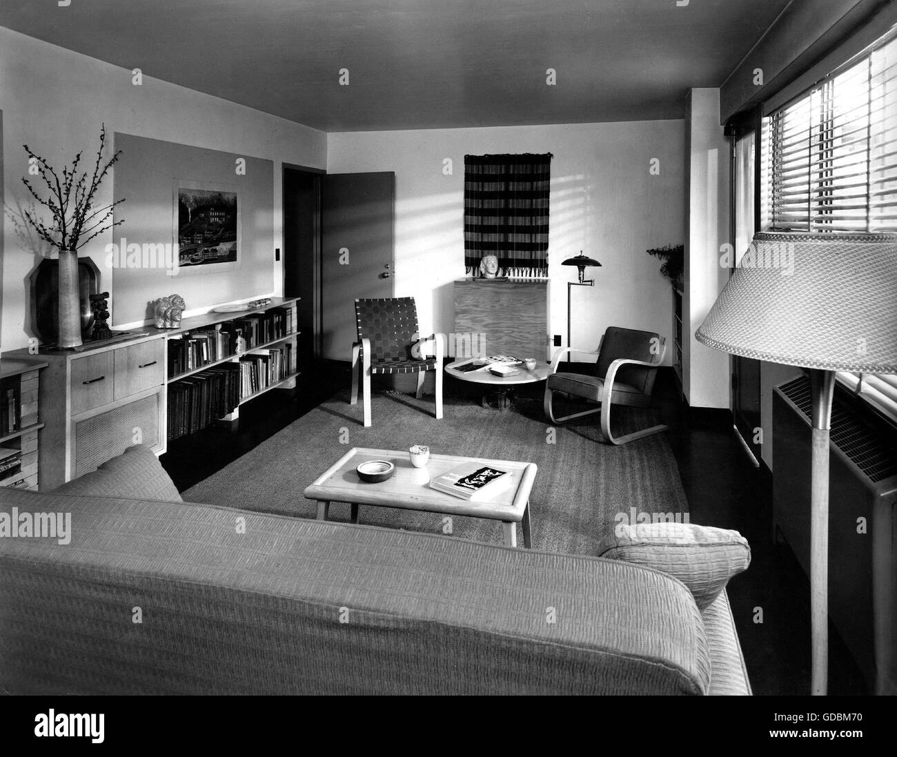 furniture, living-room, USA, 1950s, , Additional-Rights ...