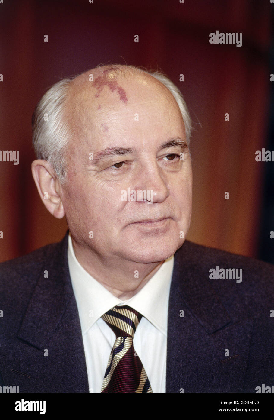 Mikhail Gorbachev, * 2.3.1931, Soviet politician (CPSU), portrait, 1997, Additional-Rights-Clearances-NA - Stock Image