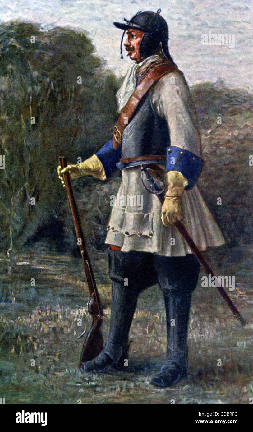 military, Spain, Arco cavalryman from the time of the War of the Spanish Succession, 1702, Additional-Rights-Clearences - Stock Image