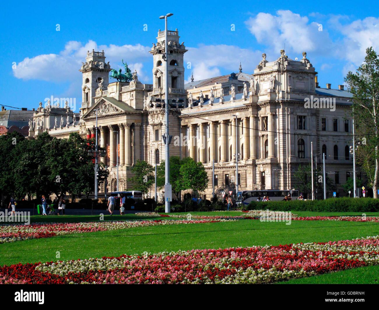 Museum of Ethnography, Budapest, Hungary - Stock Image