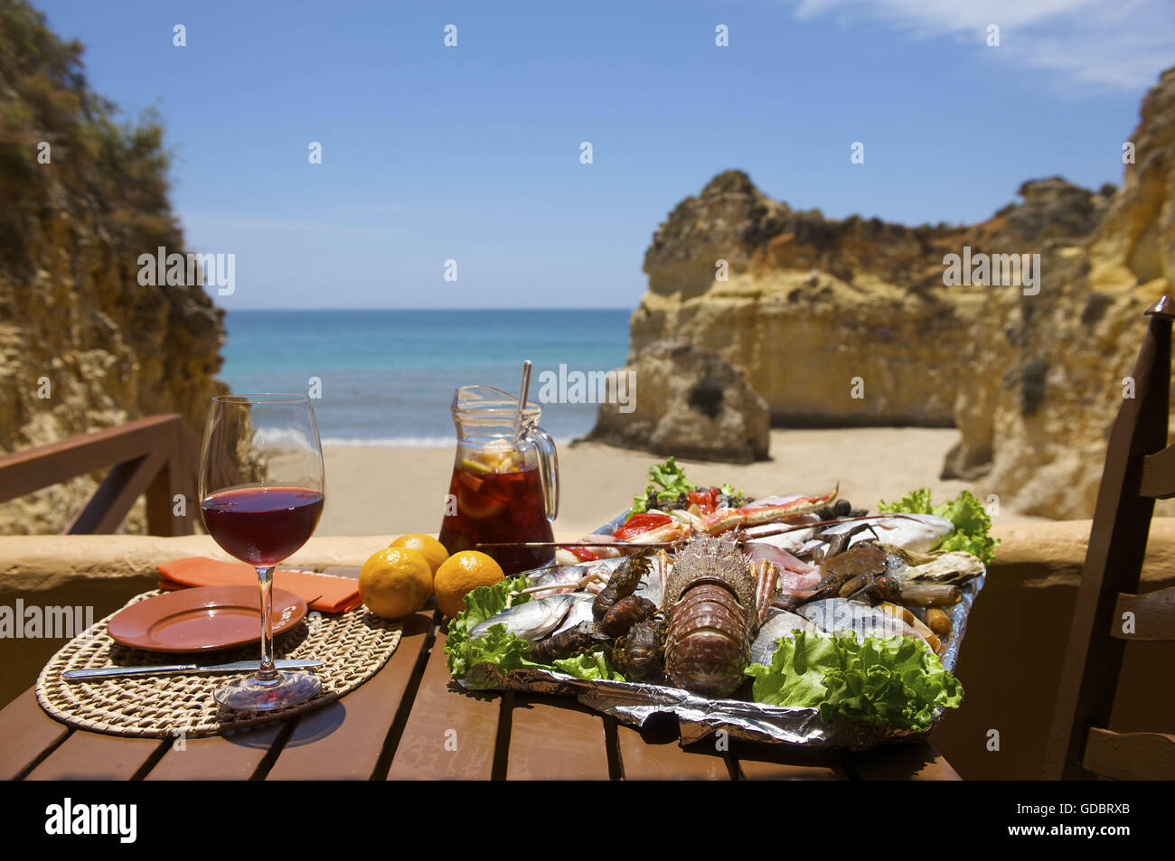 Restaurant Nearby Alvor Algarve Portugal Stock Photo