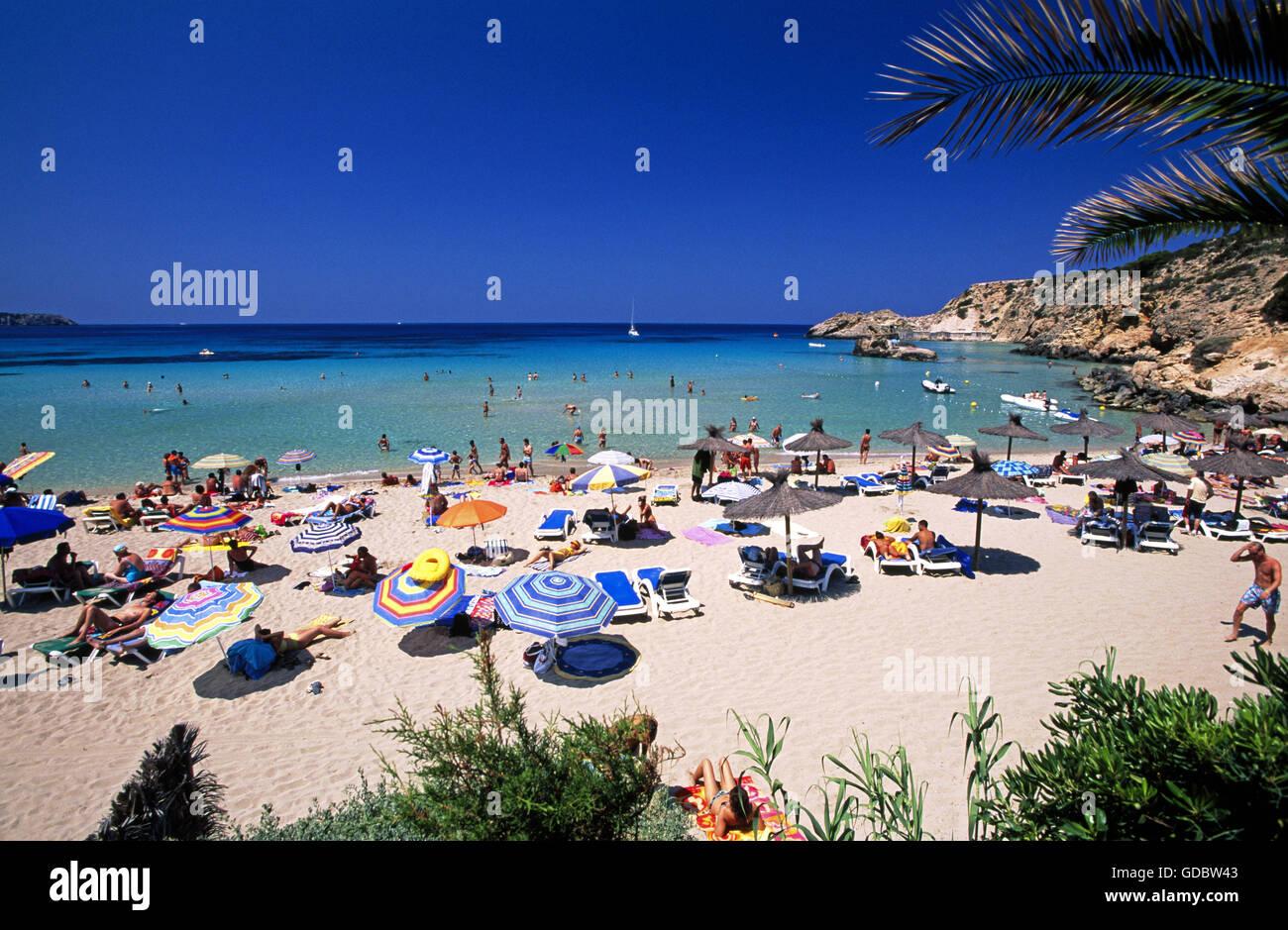 Cala Tarida, Ibiza, Balearic Islands, Spain - Stock Image