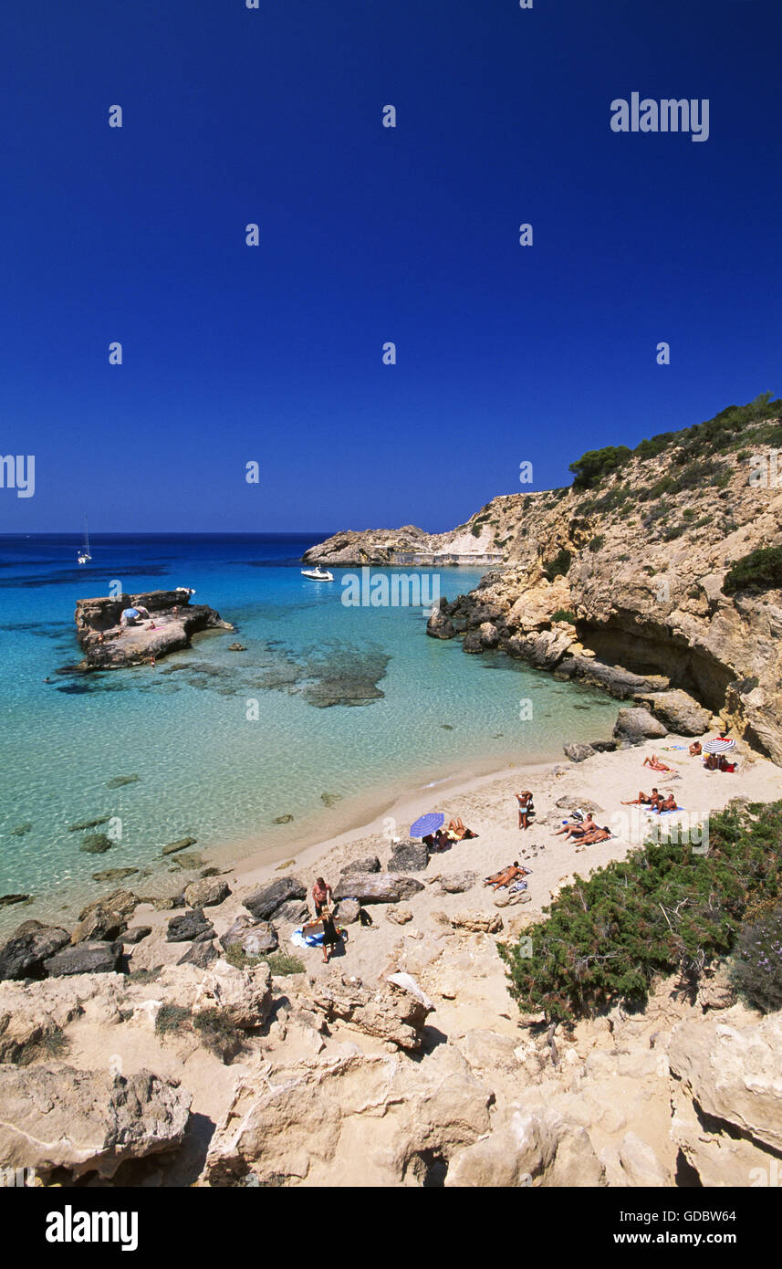 Cala Tarida, Ibiza, Balearic Islands, Spain - Stock Image
